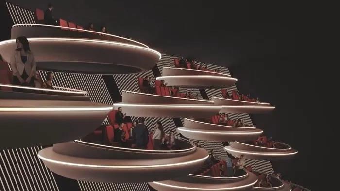 Ōma Cinema影院设计鉴赏,酷似《星战》银河议会!